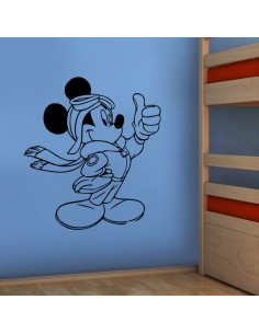 Sticker Mickey aviateur