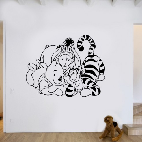 sticker enfant winnie l ourson personnaliser stickers muraux enfant. Black Bedroom Furniture Sets. Home Design Ideas