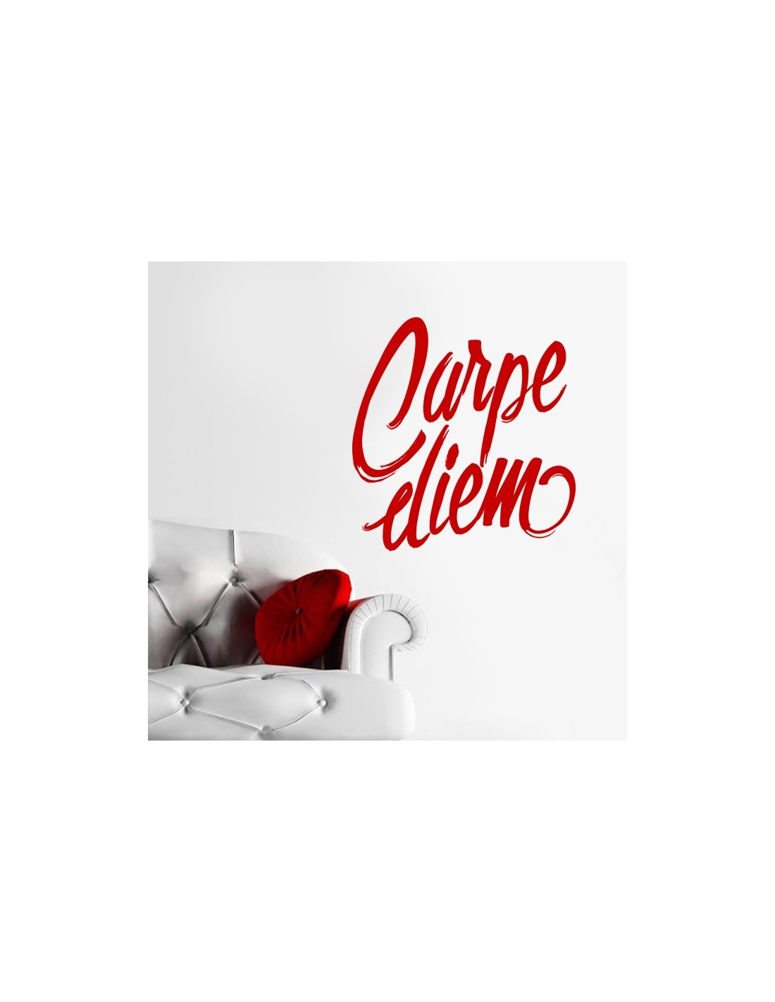 sticker carpe diem stickers muraux citation pas cher. Black Bedroom Furniture Sets. Home Design Ideas