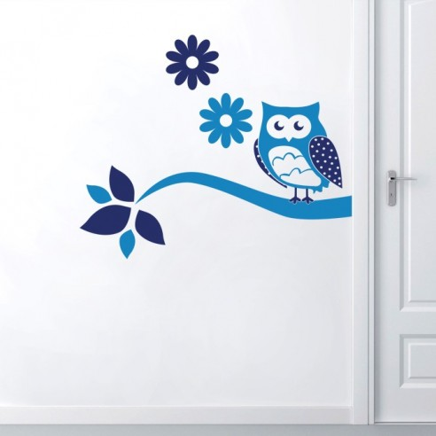 Sticker Hibou 2 couleurs