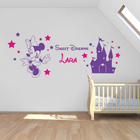 Sticker Minnie château princesse