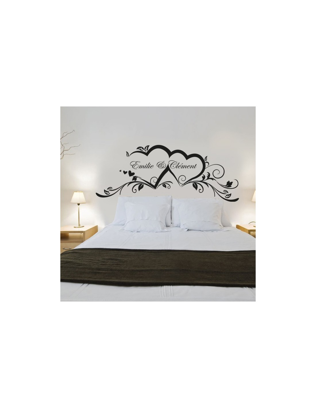 Sticker pr noms personnalis s couple stickers toi moi - Sticker mural personnalise ...