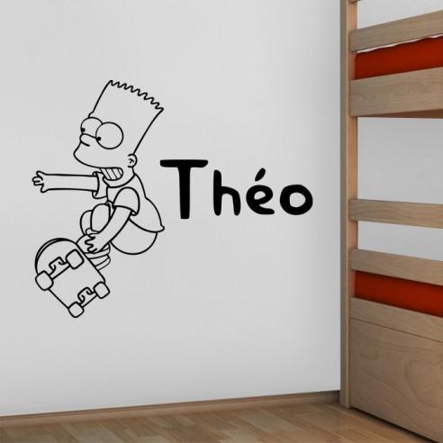 Sticker Bart Simpson personnalisé