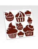 Planche stickers cupcake