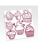 Planche stickers cupcakes