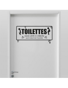 Stickers toilette version adulte
