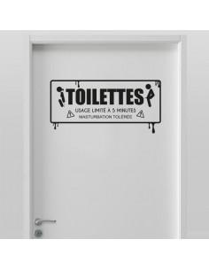 Sticker toilettes