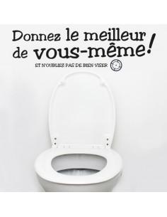 Sticker citation toilettes