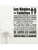 Sticker les règles des toilettes