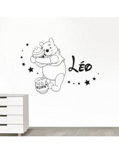 Sticker Winnie L'ourson prénom