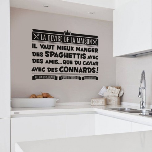 Stickers muraux cuisine stickers citation th me de la for Proverbe cuisine humour