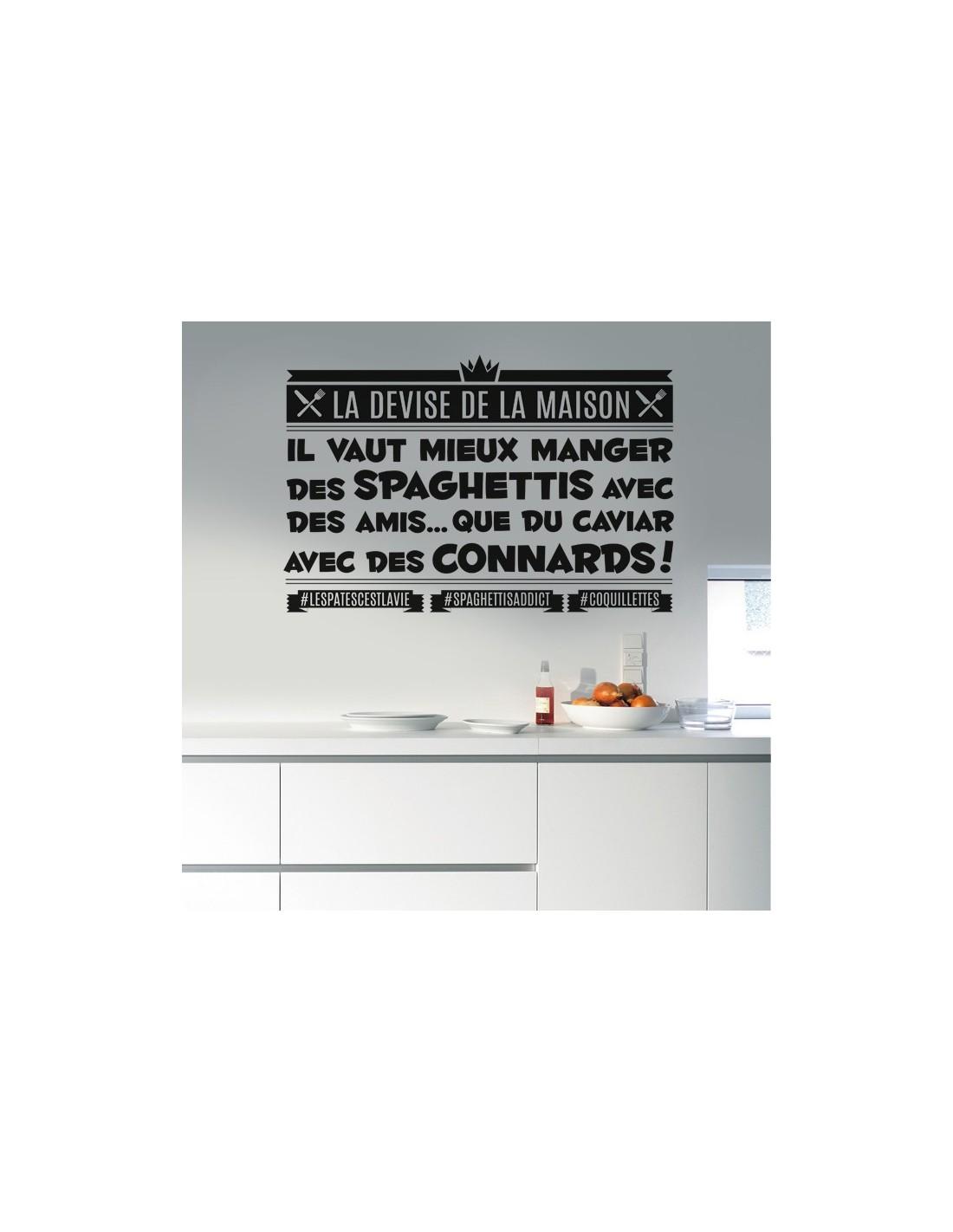 Stickers muraux cuisine stickers citation th me de la - La maison du stickers ...