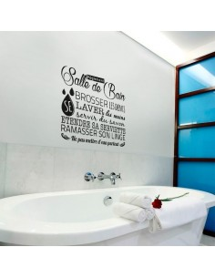 sticker déco règlement salle de bain