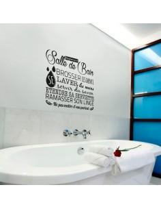 Sticker règlement salle de bain
