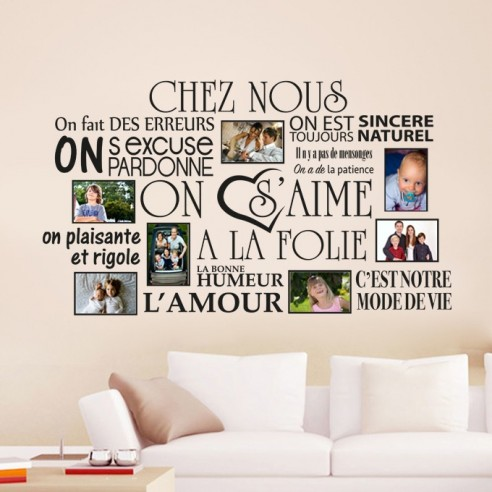 stickers muraux chez nous cadre photos de famille avec stickers. Black Bedroom Furniture Sets. Home Design Ideas