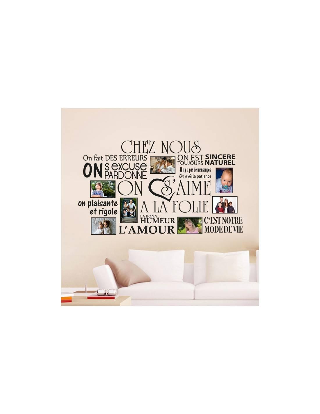 stickers muraux chez nous cadre photos de famille avec stickers. Black Bedroom Furniture Sets. Home Design Ideas