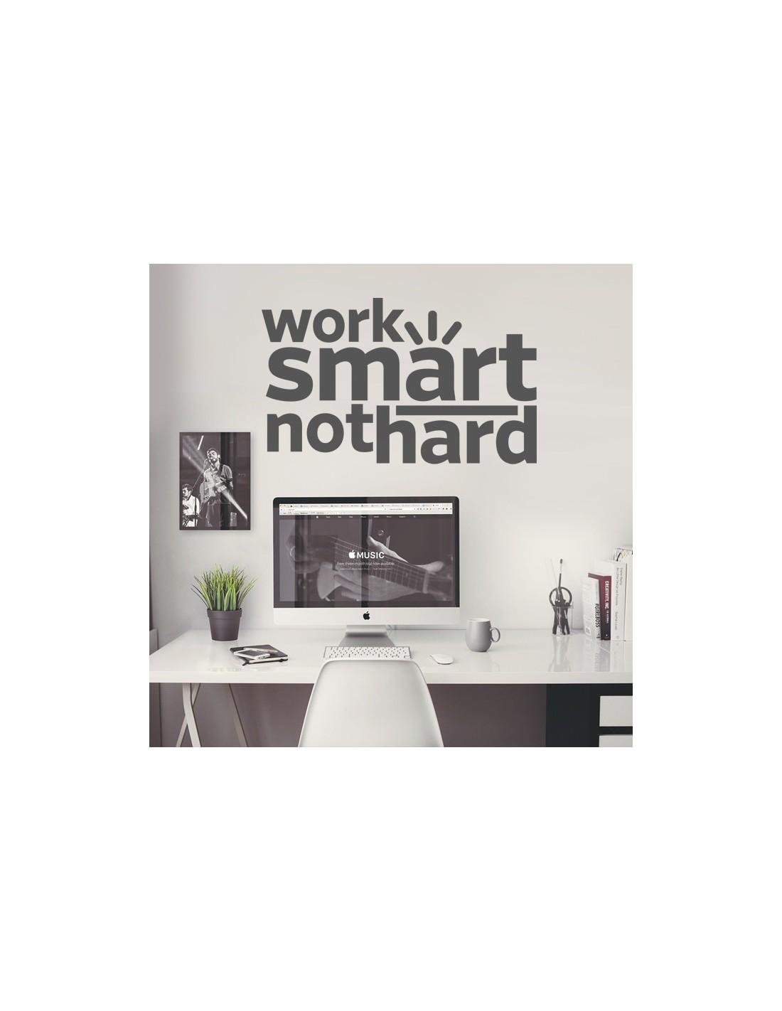 Stickers déco bureau et espace de travail - Citation thème travail