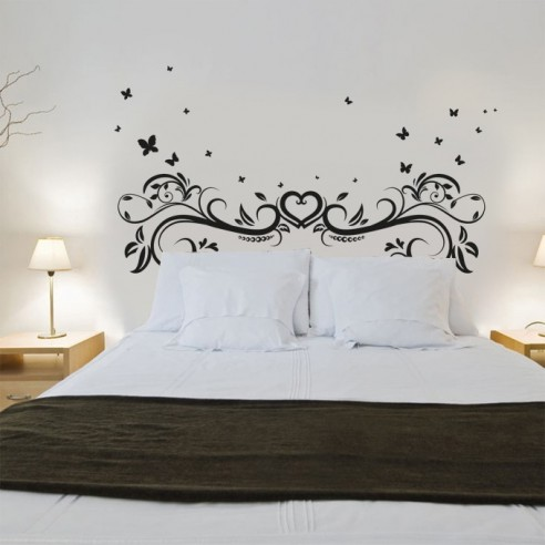 stickers oriental tete de lit sticker mural tete de lit. Black Bedroom Furniture Sets. Home Design Ideas
