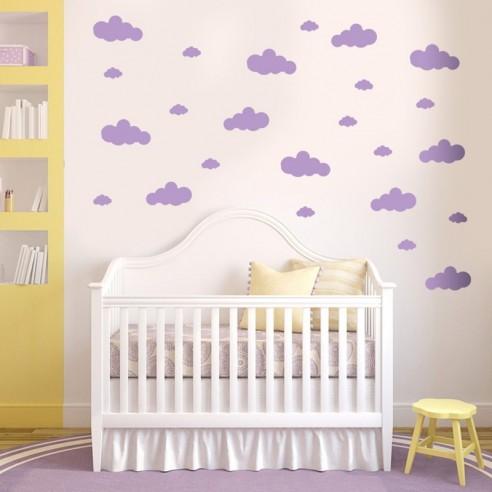 Planche stickers nuages