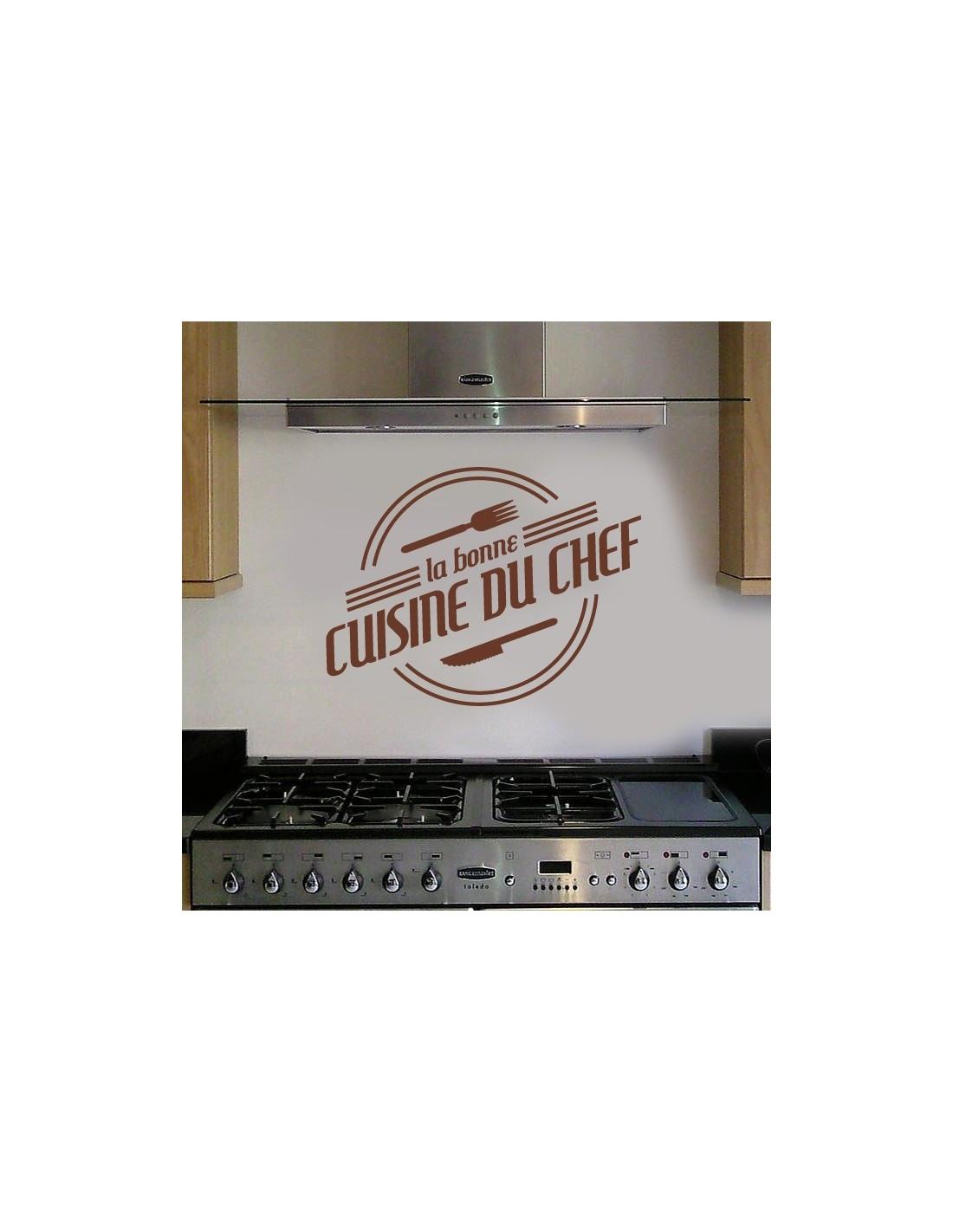 stickers muraux cuisine sticker la bonne cuisine du chef. Black Bedroom Furniture Sets. Home Design Ideas
