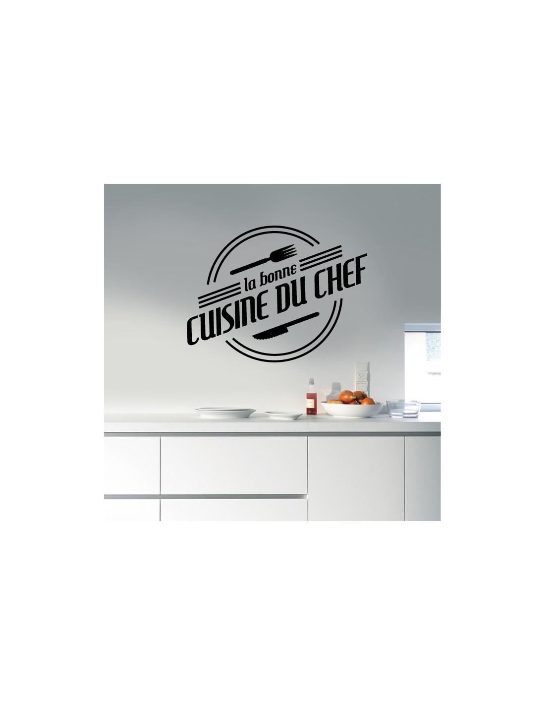 Stickers muraux cuisine sticker la bonne cuisine du chef for La bonne cuisine
