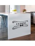 Sticker mural cuisine