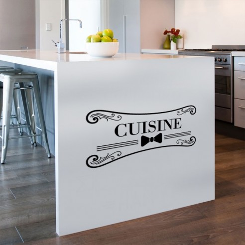 Sticker mural cuisine