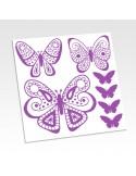 Planche de stickers papillons