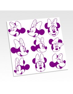 Stickers tête Minnie