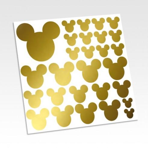 Stickers muraux têtes de Mickey - Planches et kits de stickers mickey