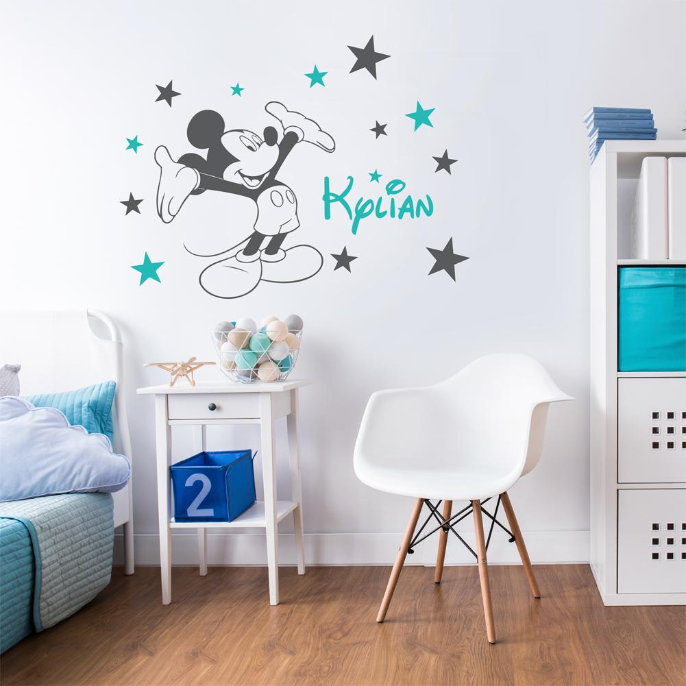 Sticker mural personnalisé mickey