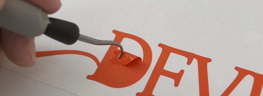 échenillage fabrication sticker adhésif
