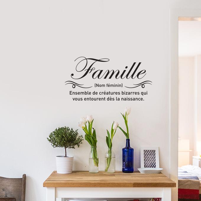 sticker mural famille