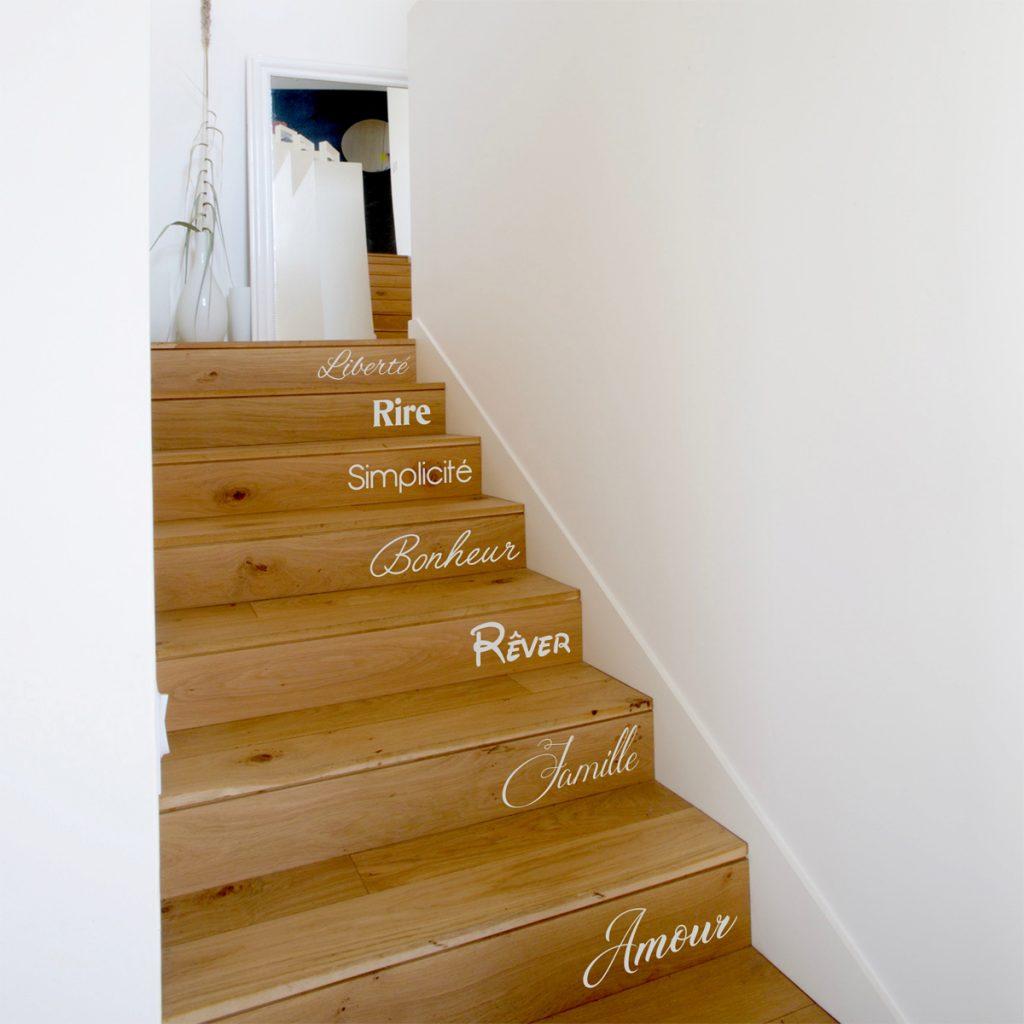 stickers mots escaliers