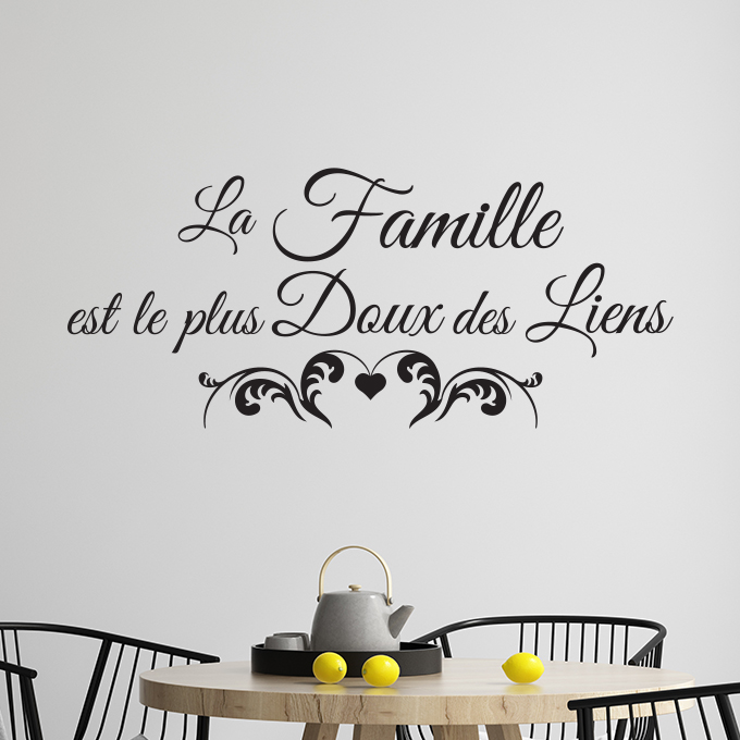 sticker citation famille