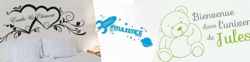 Stickers muraux personnalisés : prénom, stickers enfant, club de foot