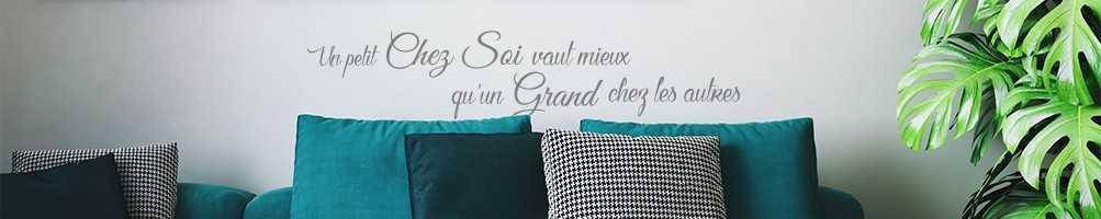 Stickers citation et texte : motivation, amour, famille, bonheur...