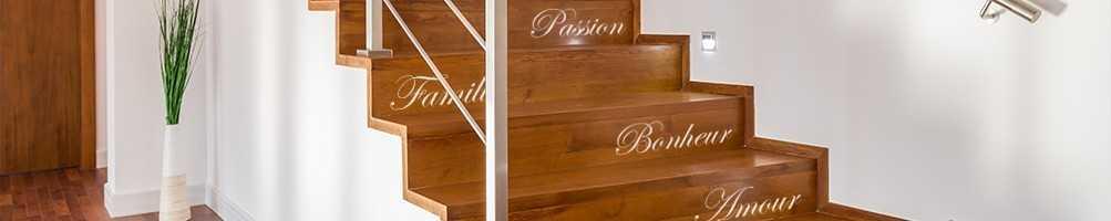 Stickers contremarche escalier, contremarche adhésive, Stickers escalier