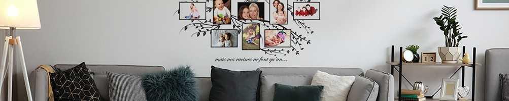 Stickers muraux cadres photos. Sticker décoration mural et cadre photo