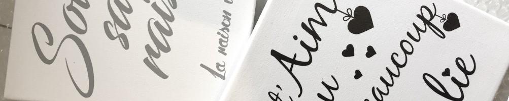 Tableaux déco personnalisés - Tableau personnalisé famille, prénom...