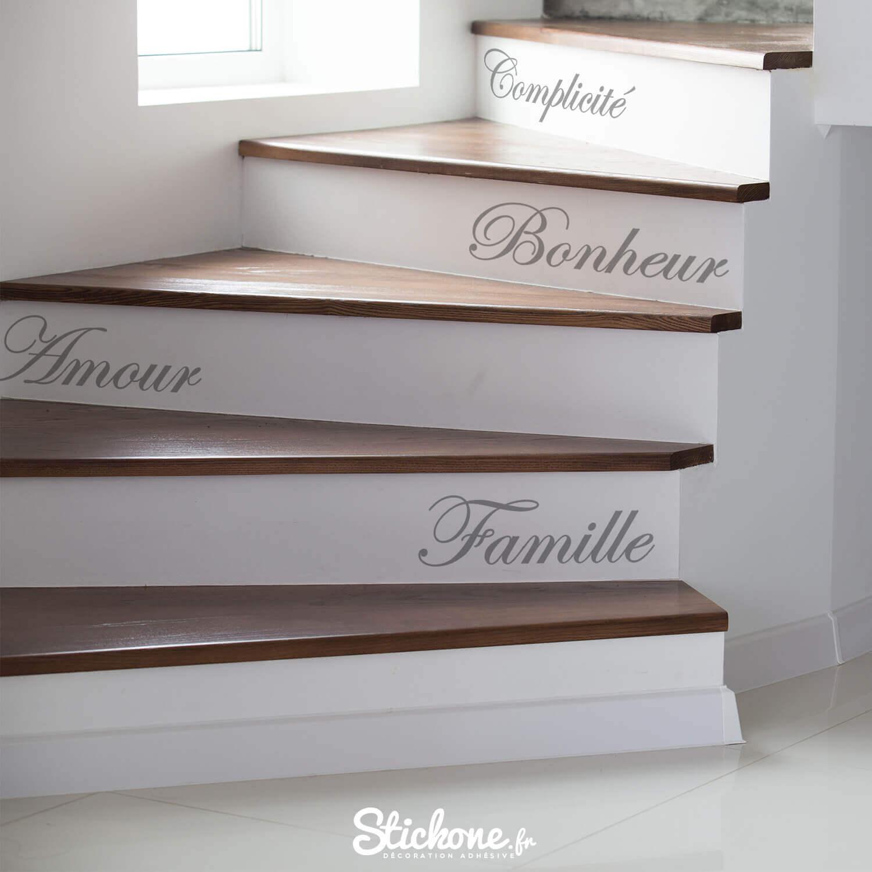 stickers personnalisés pour escaliers
