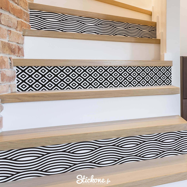 stickers autocollant contremarches d'escaliers
