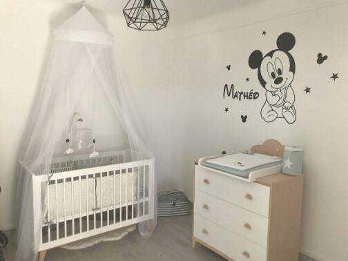 sticker décoration mickey chambre bébé