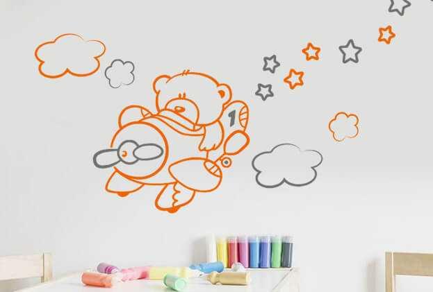 sticker décoration pour chambre d'enfant