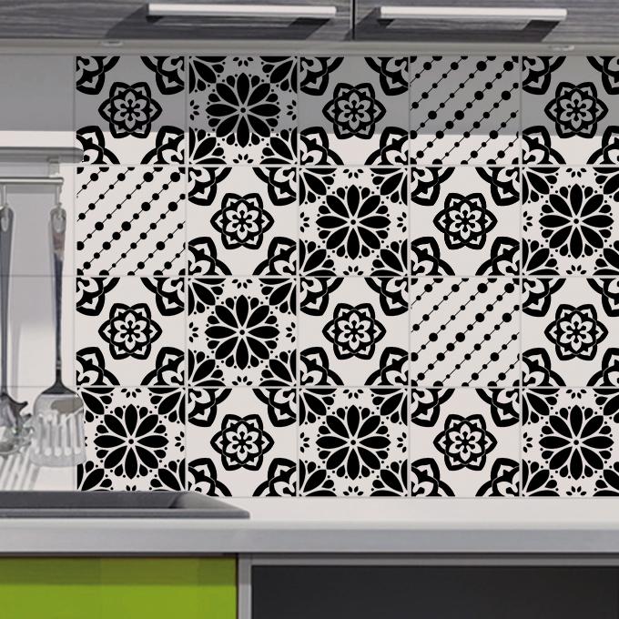 Stickers décoration carrelage de cuisine
