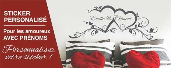 sticker déco tête de lit avec prénom