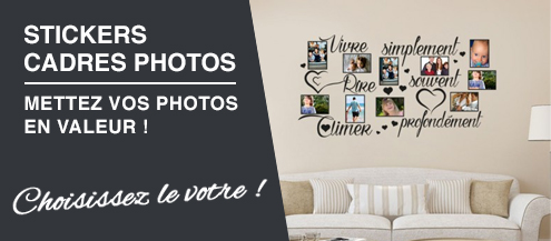 stickers muraux cadres photos pas cher
