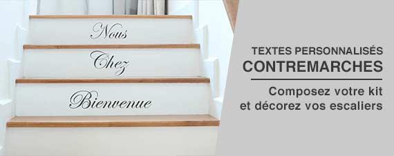 sticker décoration pour contremarches escaliers